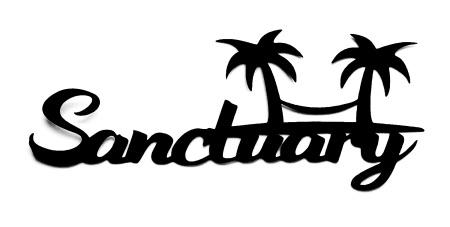 Sanctuary Scrapbooking Laser Cut Title with hammock