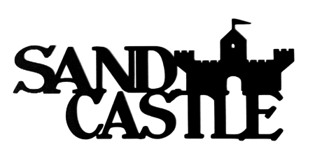 Sand Castle Scrapbooking Laser Cut Title with castle