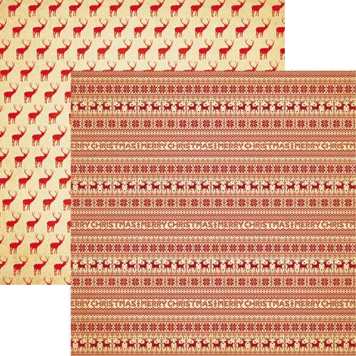 Santa's Jumper Double Sided 12x12 Scrapbooking Paper