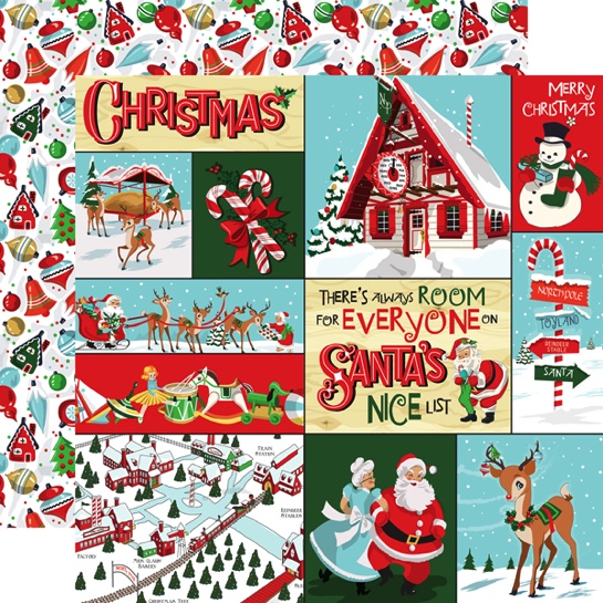 Santa Multi Journal Cards 12x12 Double Sided Scrapbooking Paper