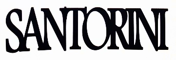 Santorini Scrapbooking Laser Cut Title