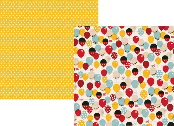 Say Cheese Balloons Double Sided 12x12 Scrapbooking Paper