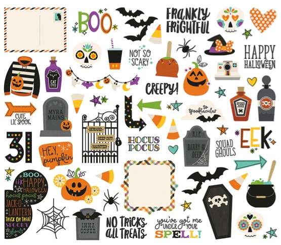 Halloween Bits and Pieces Die Cut Scrapbooking Shapes