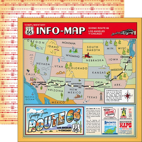 Scenic Route 12x12 Double Sided Scrapbooking Paper