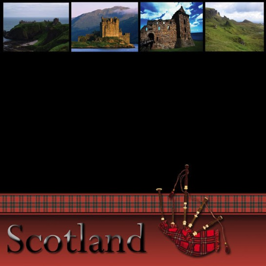 Scenic Scotland 12x12 Scrapbooking Paper