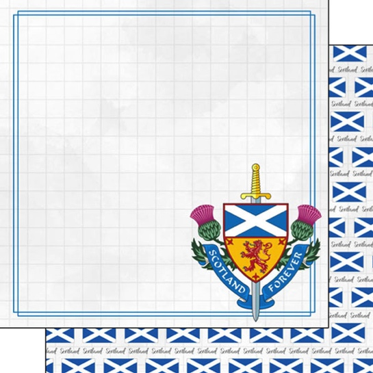 Scotland Adventure 12x12 Double Sided Scrapbooking Paper