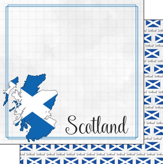 Scotland 12x12 Double Sided Scrapbooking Paper