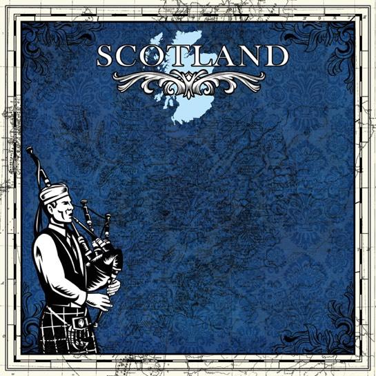 Scotland Bagpipes 12x12 Scrapbooking Paper