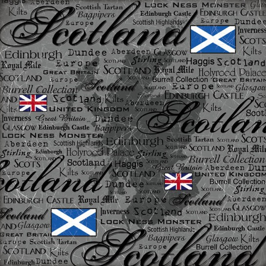 Scotland Collage 12x12 Scrapbooking Paper