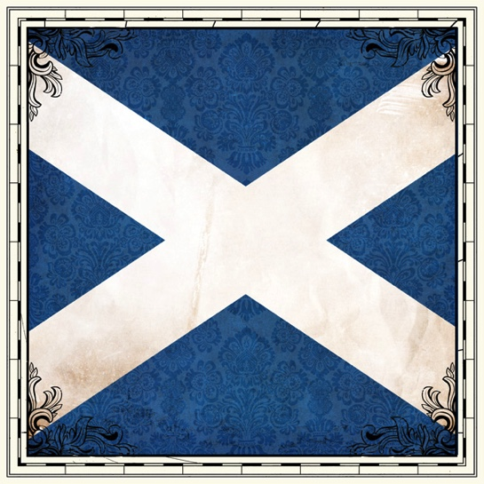 Scotland Flag 12x12 Scrapbooking Paper