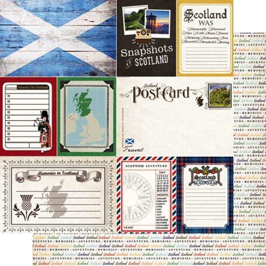 Scotland Journal 12x12 Double Sided Scrapbooking Paper