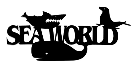 Sea World Scrapbooking Laser Cut Title with marine life