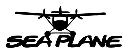 Seaplane Scrapbooking Laser Cut Title with Plane
