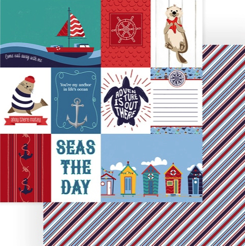 Monterey Bay Seas the Day Double Sided 12x12 Scrapbooking Paper