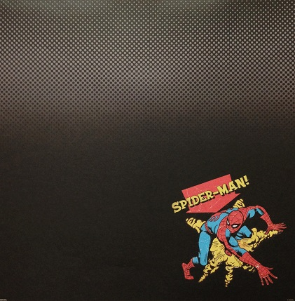 Secretive Spiderman 12x12 Scrapbooking Paper