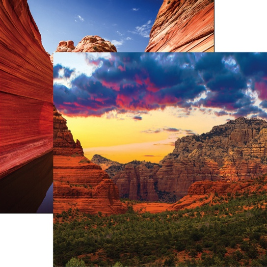 Sedona 12x12 Double Sided Scrapbooking Paper