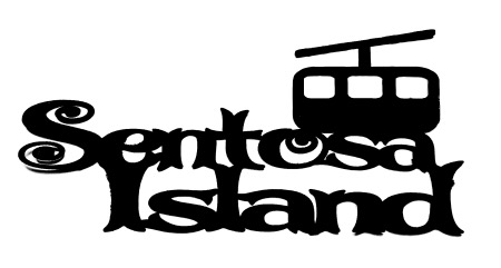 Sentosa Island Scrapbooking Laser Cut Title with Cable Car
