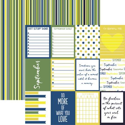 Plan it September 12x12 Double Sided Scrapbooking Paper