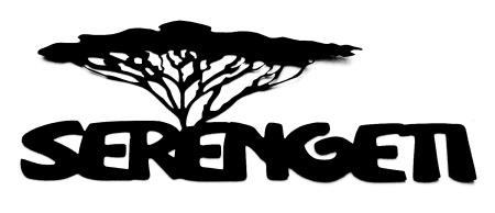 Serengeti Scrapbooking Laser Cut Title with tree