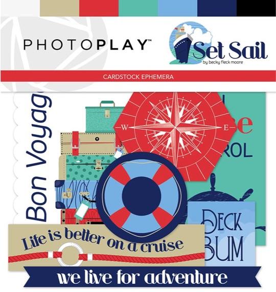 Set Sail Die Cut Scrapbooking Ephemera