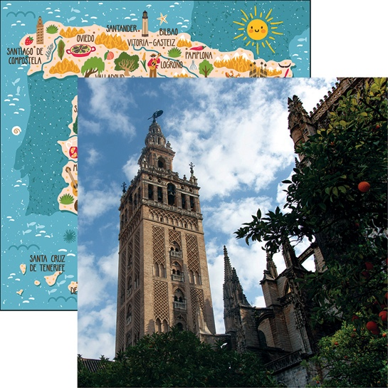Seville Cathedral 12x12 Double Sided Scrapbooking Paper