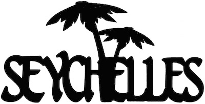 Seychelles Scrapbooking Laser Cut Title With Palm Trees