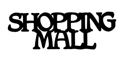 Shopping Mall Scrapbooking Laser Cut Title