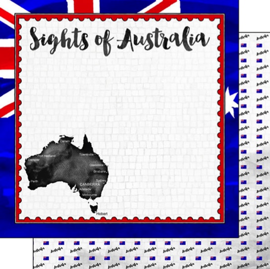 Sights of Australia 12x12 Double Sided Scrapbooking Paper