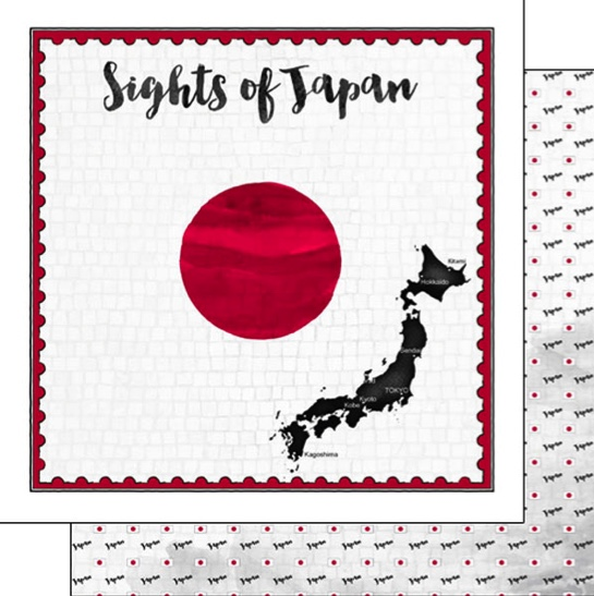 Sights of Japan 12x12 Double Sided Scrapbooking Paper