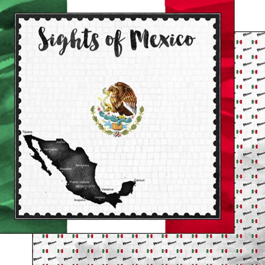 Sights of Mexico 12x12 Double Sided Scrapbooking Paper