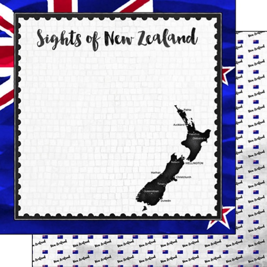 Sights of New Zealand 12x12 Double Sided Scrapbooking Paper