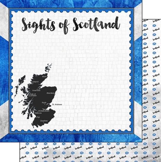 Sights of Scotland 12x12 Double Sided Scrapbooking Paper