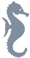 Silver Glitter Seahorse Die Cut Scrapbooking Sticker