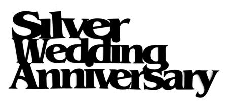 Silver Wedding Anniversary Scrapbooking Laser Cut Title