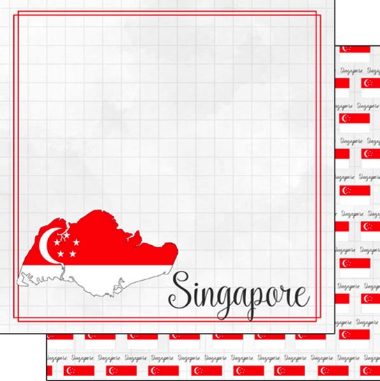 Singapore 12x12 Double Sided Scrapbooking Paper