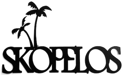 Skopelos Scrapbooking Laser Cut Title With Palm Trees