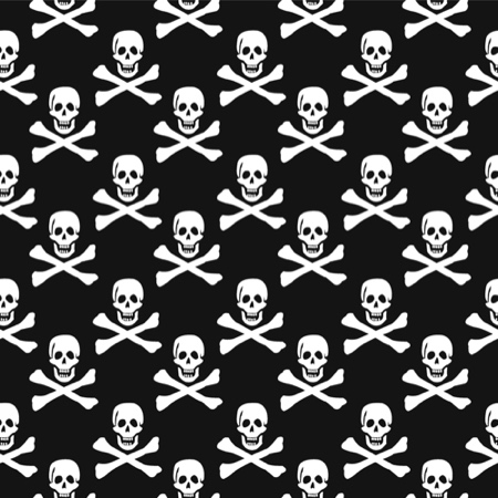 BULK BUY Skull and Crossbones 12x12 Scrapbooking Paper - 25 Sheets