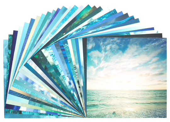 Sky and Sea Scrapbooking Pack - 30 sheets of 12x12 Paper