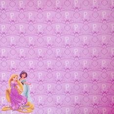 Rapunzel and Jasmine 12x12 Scrapbooking Paper