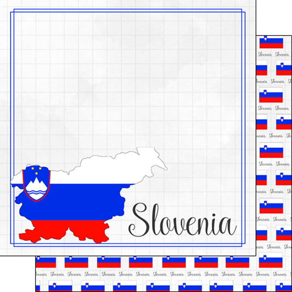 Slovenia 12x12 Double Sided Scrapbooking Paper