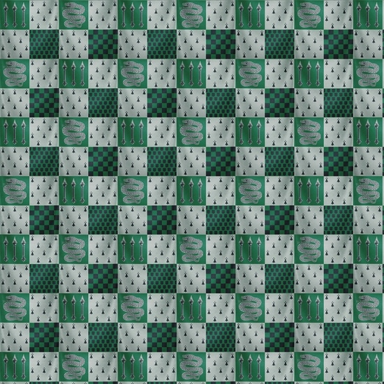 Slytherin Harry Potter 12x12 Scrapbooking Paper