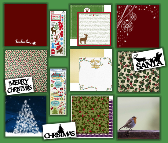 Christmas Scrapbooking Collage