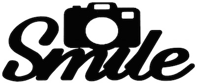 Smile Scrapbooking Laser Cut Title with Camera