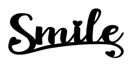 Smile Scrapbooking Laser Cut Title