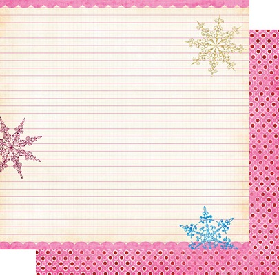 Snow Notes Double Sided 12x12 Scrapbooking Cardstock