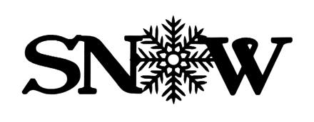 Snow Scrapbooking Laser Cut Title with Snowflake