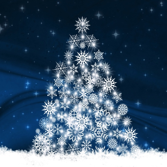 BULK BUY Snowflake Christmas Tree 12x12 Scrapbooking Paper - 25 Sheets