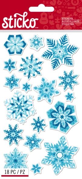 Snowflakes Scrapbooking Stickers