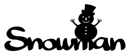 Snowman Scrapbooking Laser Cut Title with Snowman