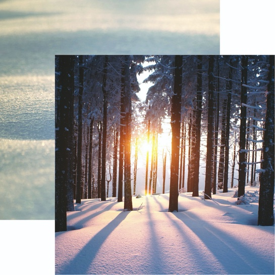 Snowy Sunset 12x12 Double Sided Scrapbooking Paper